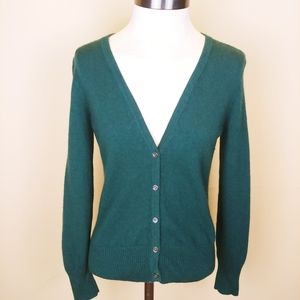 Theory 100% Cashmere Green Cardigan